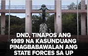 DND abrogated decades old agreement with UP as regards to the non- conduct operations in its campuses