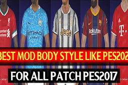 Best Mod Body Style Like PES 2021 For - PES 2017