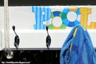 DIY Pool Towel Holder