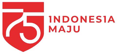 logo hut ri 75 indonesia maju png