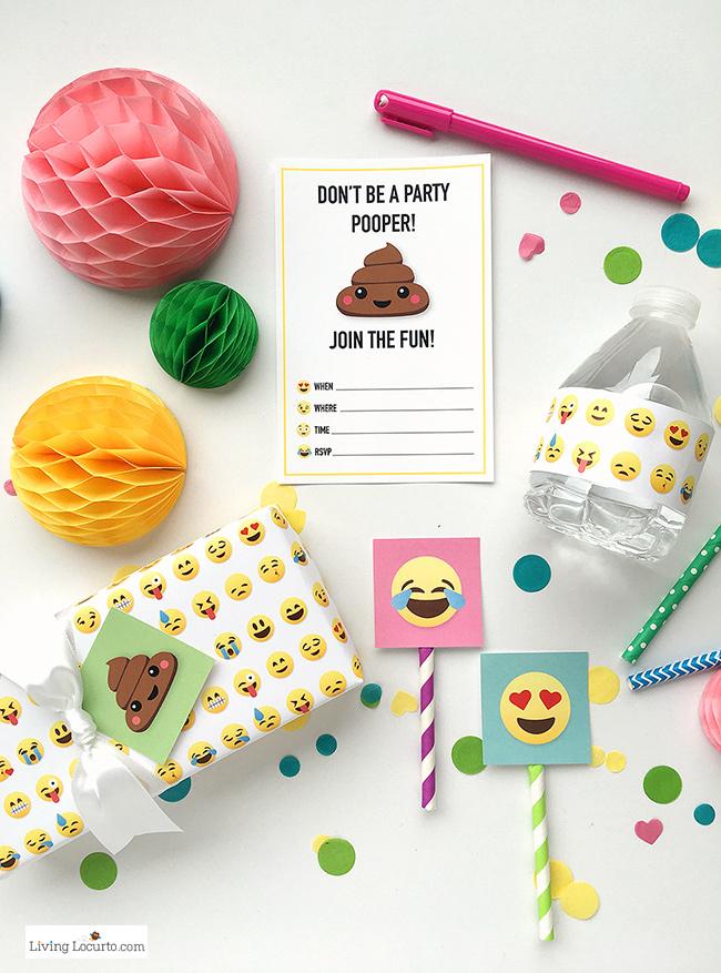 Fiesta Emoji O Emoticonos Mini Kit Para Imprimir Gratis