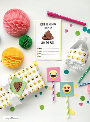 Fiesta Emoji o Emoticonos: Mini Kit para Imprimir Gratis.