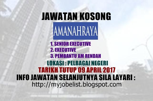 Jawatan Kosong Amanah Raya Berhad 2017