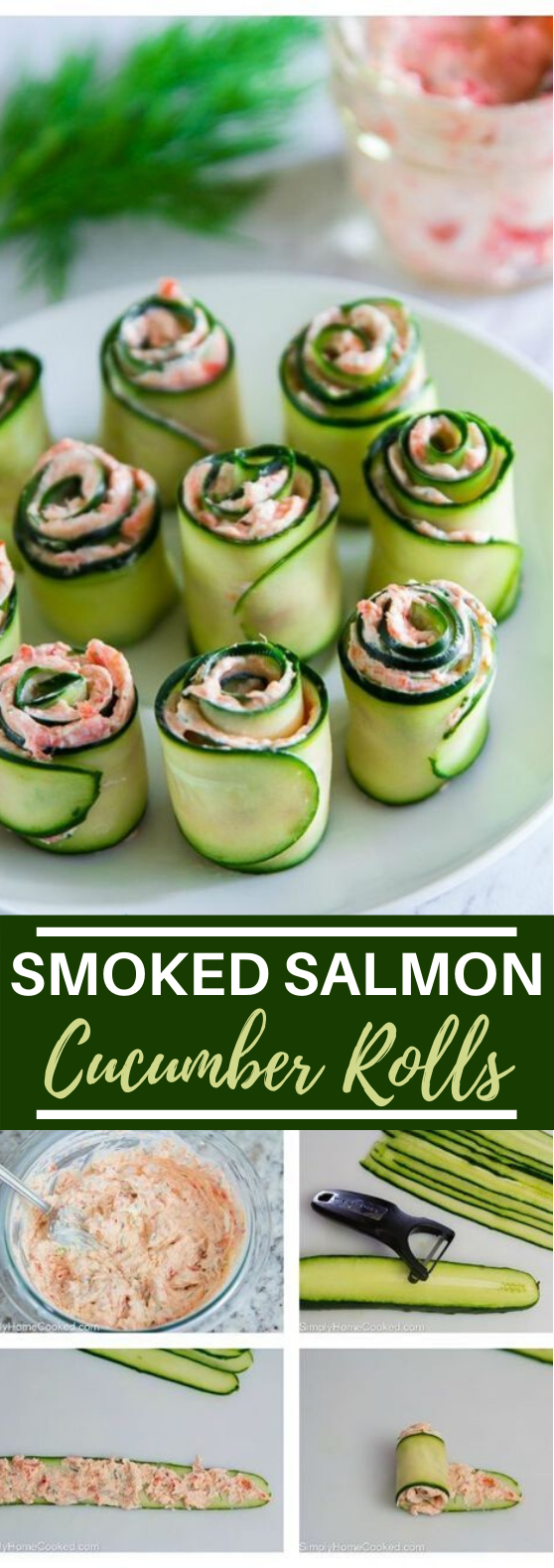 Smoked Salmon Cucumber Appetizer #healthy #appetizers #lowcarb #glutenfree #keto