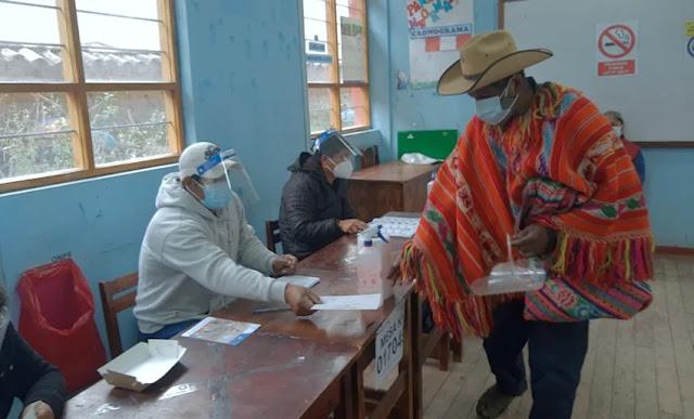 Horario de votación, según ONPE