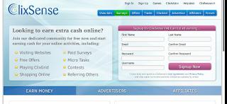 Clixsense Homepage