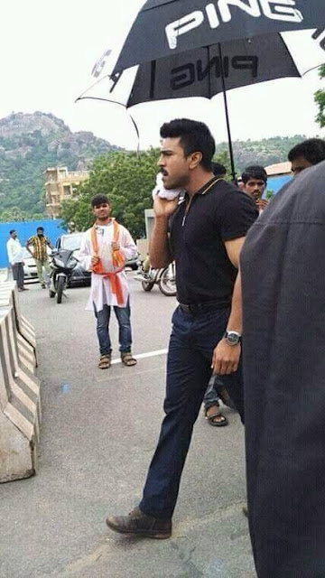 Ram charan in Dhruva Telugu movie working stills