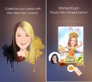 MomentCam Kartun & Stiker aplikasi edit foto jadi anime
