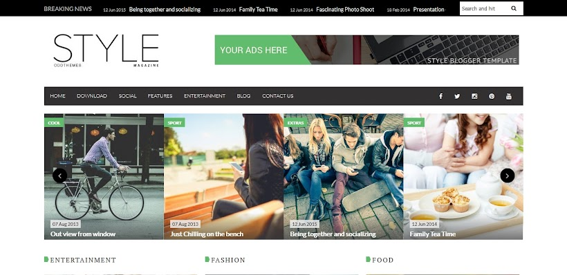 Style Free Blogger Template