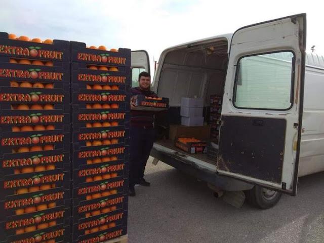 """πορτοκάλια και μανταρίνια από την Αργολίδα για το """"Καλάθι του Πτωχού Αδελφού"""" στην Αρκαδία"""