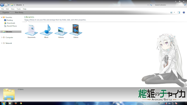Tema Hitsugi no Chaika: Chaika Trabant Windows 7 Anime Hitto