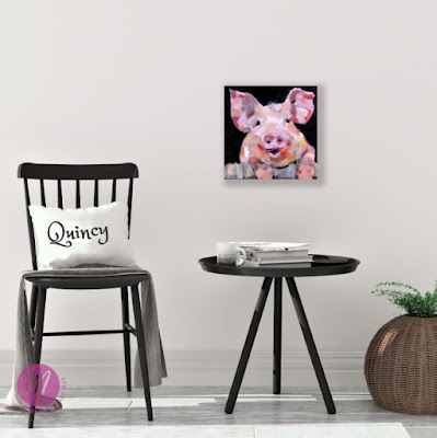 quincy-pig-painting-merrill-weber