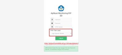 Log in paipsd http://pipsd.kemdikbud.go.id/manajemen/