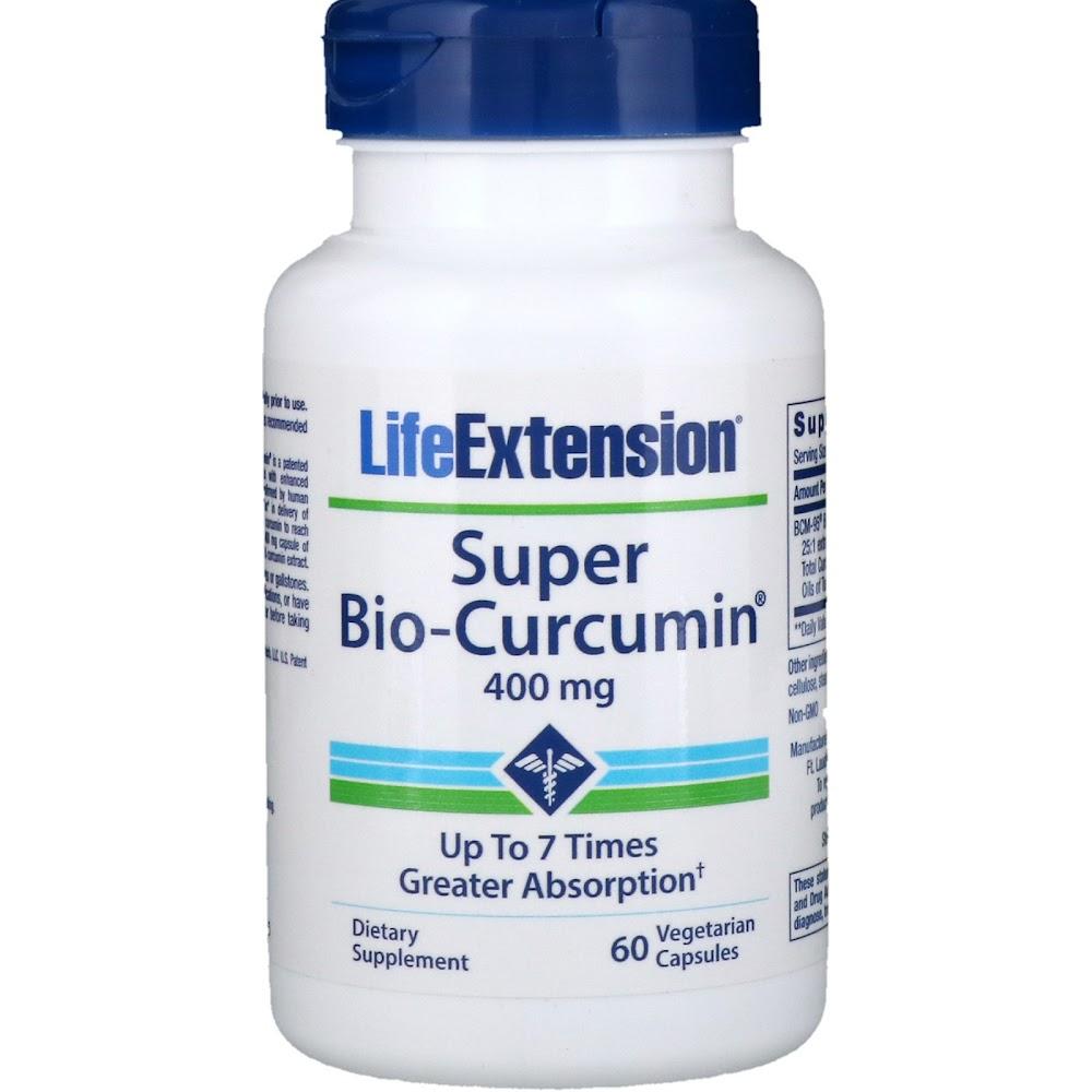 Life Extension, Super Bio-Curcumin, 400 мг, 60 растительных капсул
