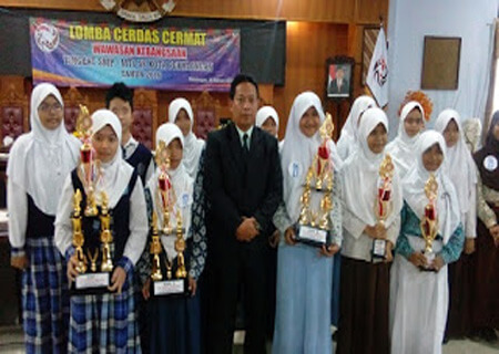 SMP Negeri 1 Raih Juara Pertama LCC Wawasan Kebangsaan Tingkat Kota Pekalongan