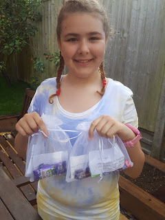 Top Ender with her Camp Bribery Bags