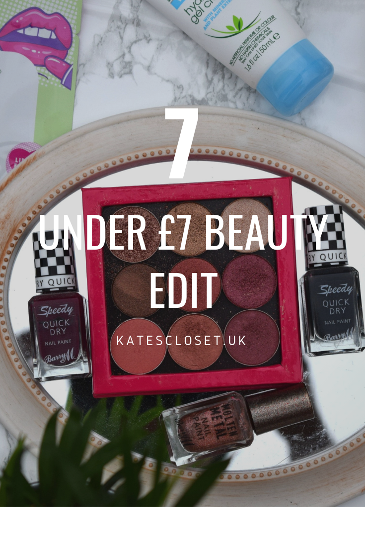 7 under £7 beauty edit