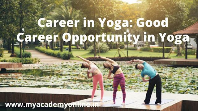 Career option in Yoga