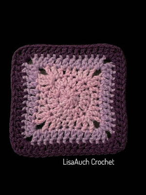 how to crochet a solid granny sqaure FREE pattern