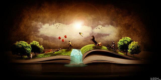 Libro abierto con un árbol