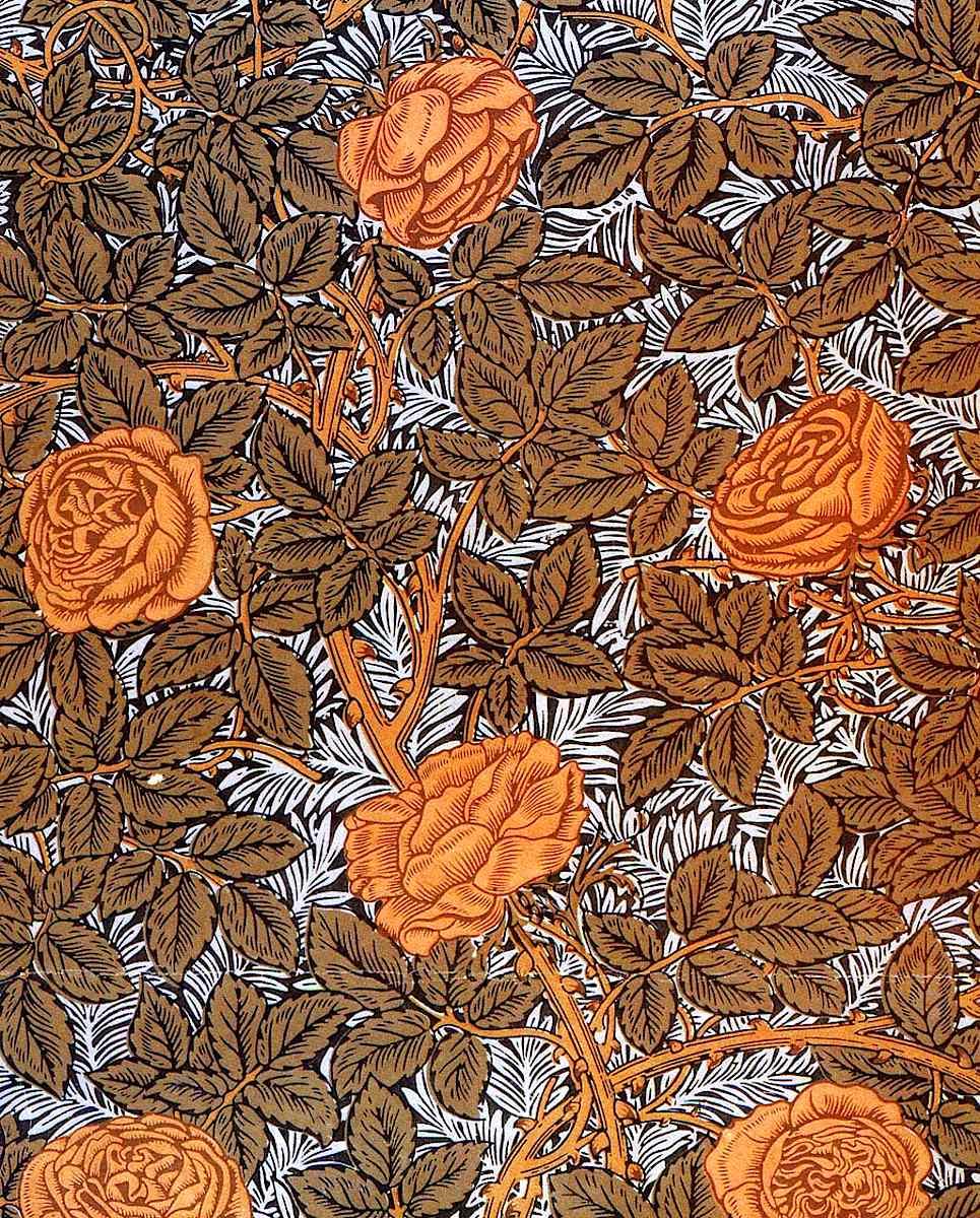 William Morris wallpaper designed between 1873 and 1890, called 93 Rose