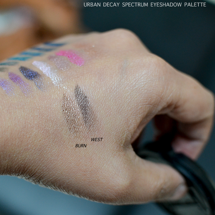 Urban Decay Eyeshadow Palette - Swatches - Burn West