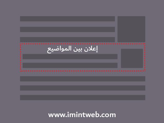 طريقة وضع اعلانات ادسنس في مدونة بلوجر داخل المواضيع