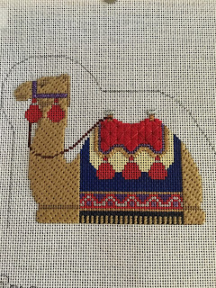 carol dupree needlepoint nativity camel