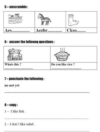 60 امتحان لغة انجليزية للصف الثانى الابتدائى الترم التانى