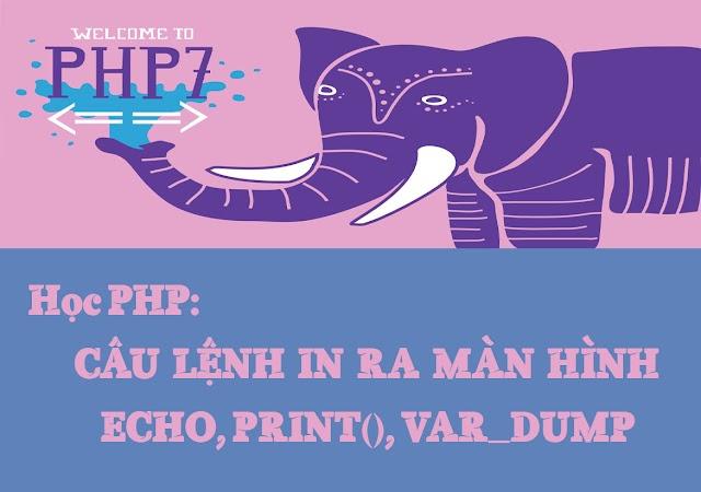 Bài 4: Câu lệnh để in giá trị ra màn hình trong PHP (Echo, Print, Var_dump)
