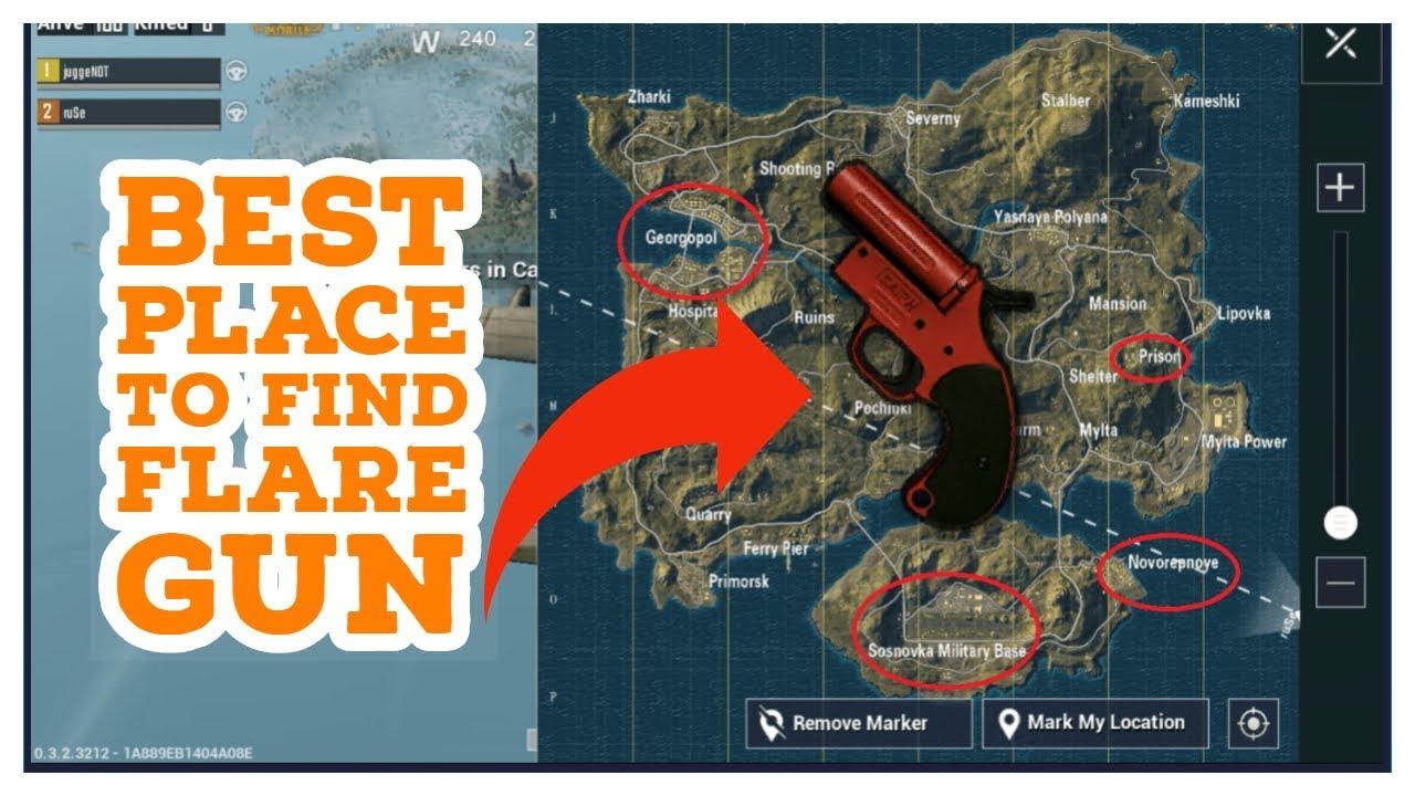 Pubg Flare Gun Locations Erangel - Hack Pubg Mobile No Jailbreak