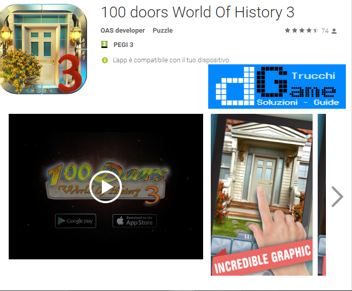 Soluzioni 100 Doors World of History 3 livello 31-32-33-34-35-36-37-38-39-40 | Trucchi e Walkthrough level