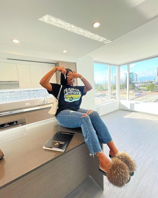 New Level Unlocked- Comedienne Caramel becomes a house owner in Canada(Photos)