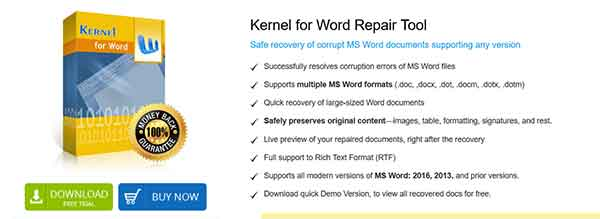 kernel word for word repair