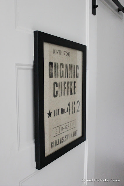 Stencil a Simple Organic Coffee Sign