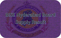 BISE Hyderabad Board Matric Supplementary Result 2020