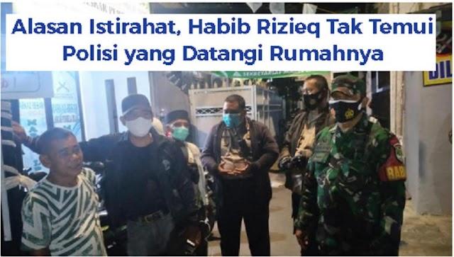 Rizieq Tak Mau Temui Petugas Polisi, Khawatir Positif Covid?