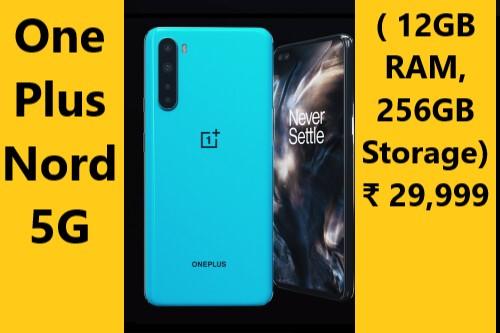 OnePlus Nord 5G (Gray and Blue, 12GB RAM, 256GB Storage)
