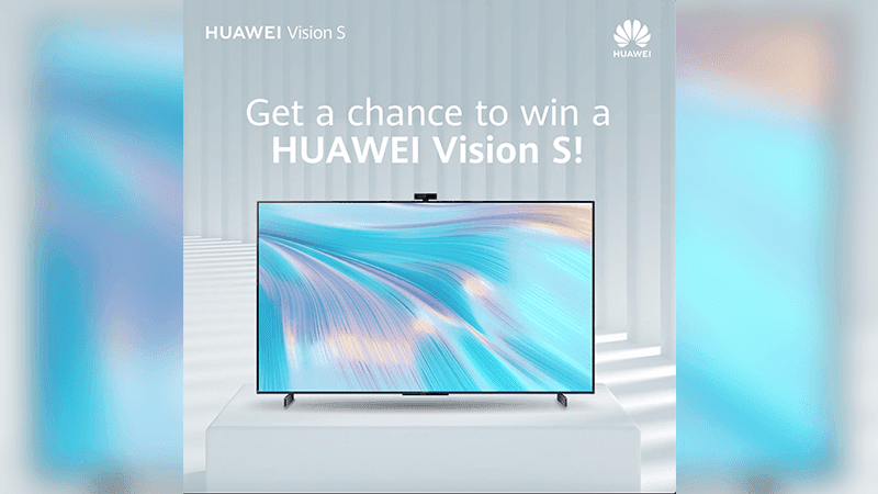 Try the Huawei Vision S Series for a chance to win one and a FreeBuds 4i!