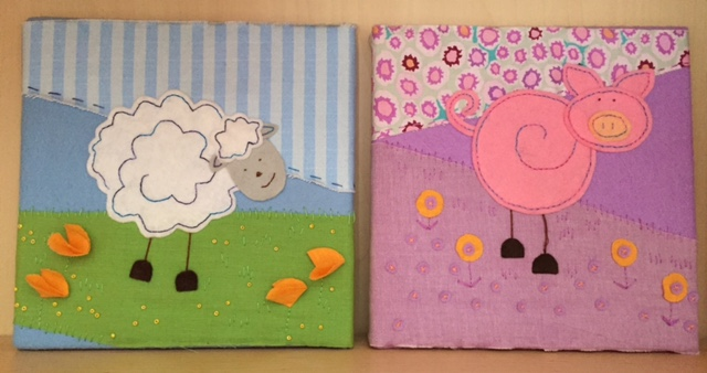 Felt and fabric nursery pictures craft kit