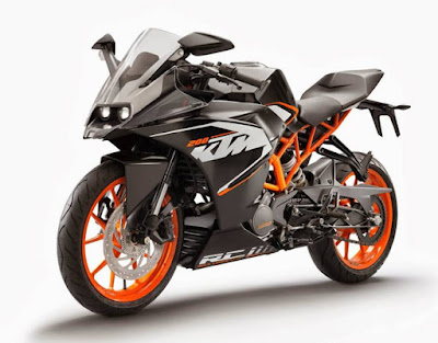 KTM RC 200 left side front view