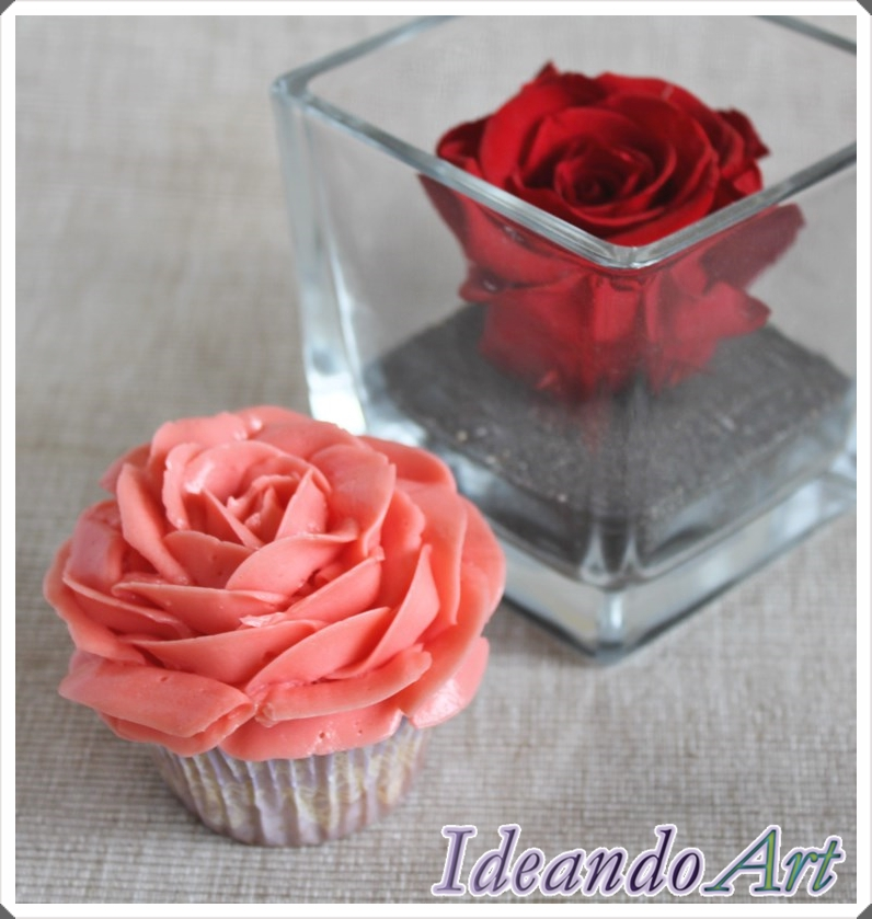 Rosa buttercream