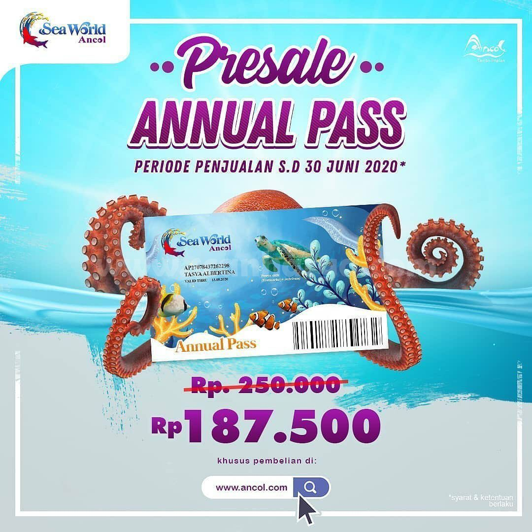 Promo Annual Pass Sea World Ancol Presale s/d 30 Juni 2020!