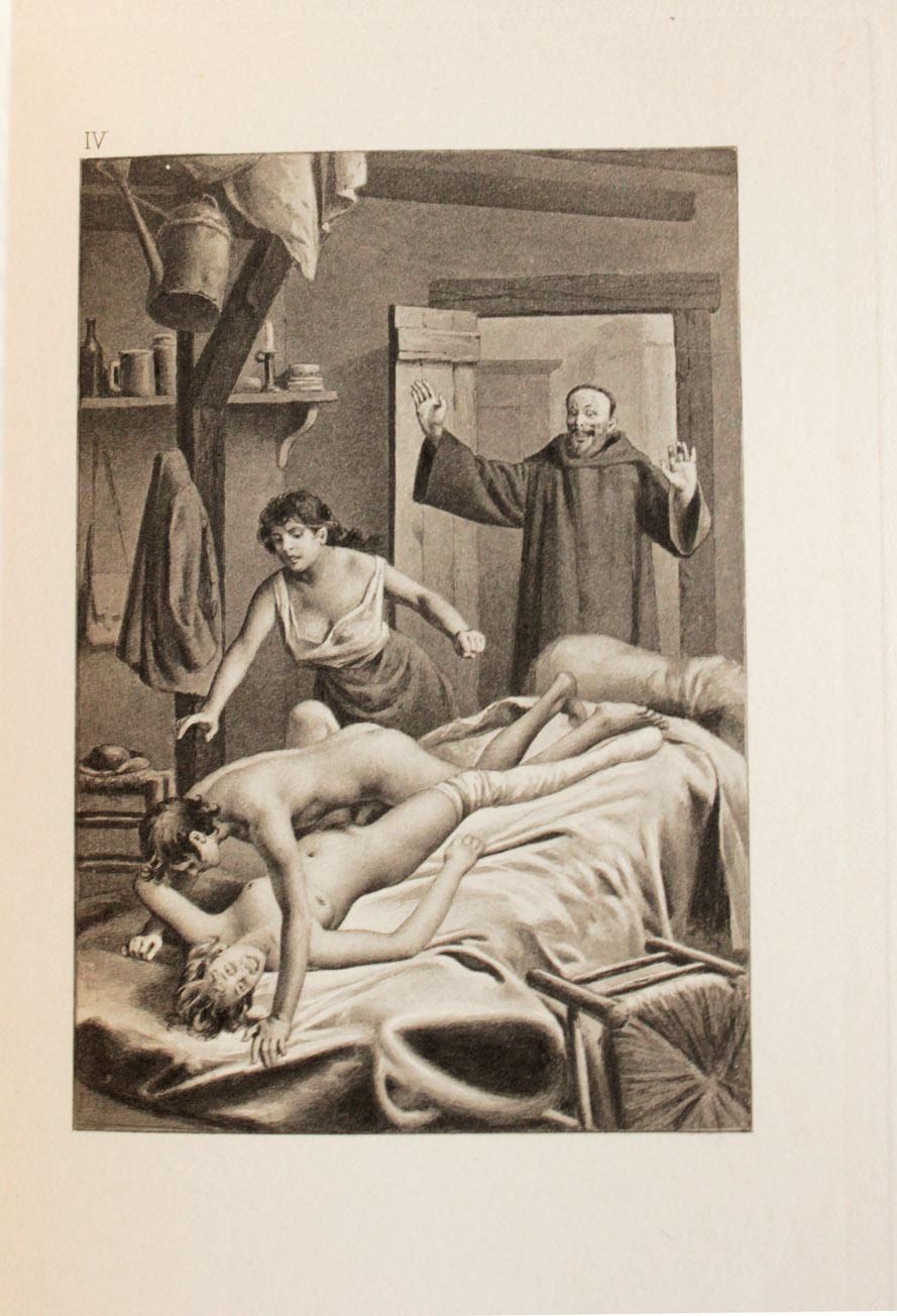 Erotic drawings of marc blanton nymphs and satyr - 3 part 3