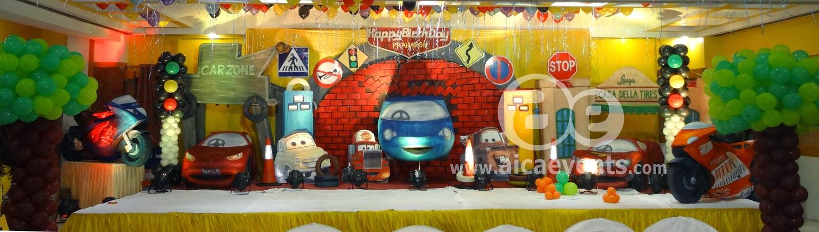 Aicaevents India Disney Cars Theme Birthday Party