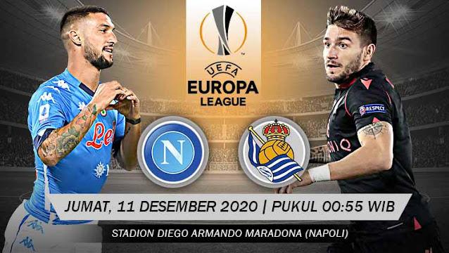 Prediksi Napoli Vs Real Sociedad, Jumat 11 Desember 2020 Pukul 00.55 WIB