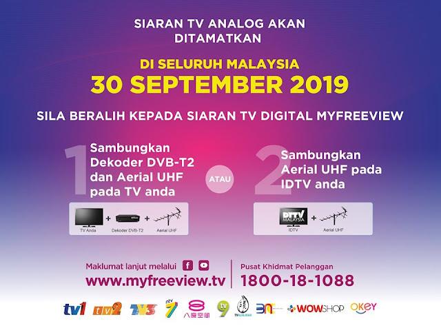 Jenama - jenama IDTV di Malaysia Untuk Siaran TV Digital myFreeview Percuma