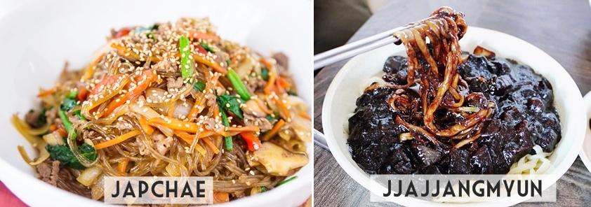 Comidas Coreanas: Japchae e Jjajjangmyun