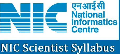 NIC SCIENTIST B SYLLABUS