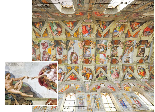 How was the Sistine Chapel's ceiling painted